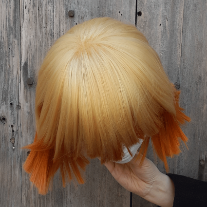 Zenitsu cosplay wig top view