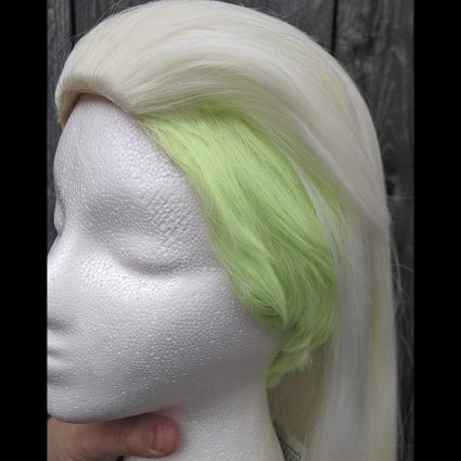 Double Trouble cosplay wig undercut side view