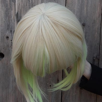 Lio cosplay wig top view