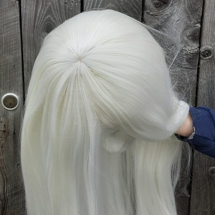 Carmilla cosplay wig top view