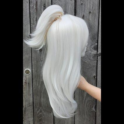 Estinien cosplay wig side view with clip