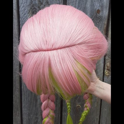 Mitsuri cosplay wig top view