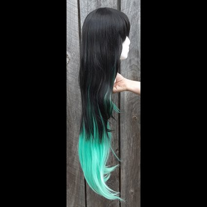 Muichiro cosplay wig side view