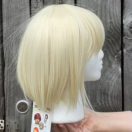 He-Man cosplay wig side view