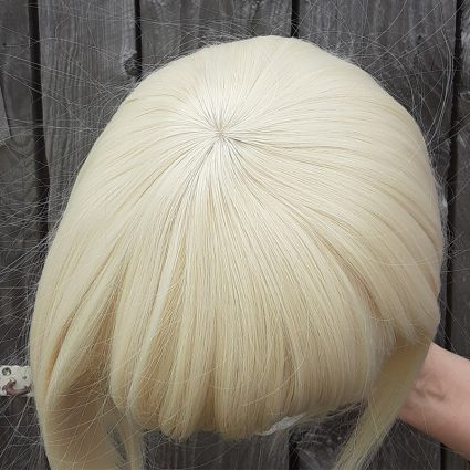 He-Man cosplay wig top view