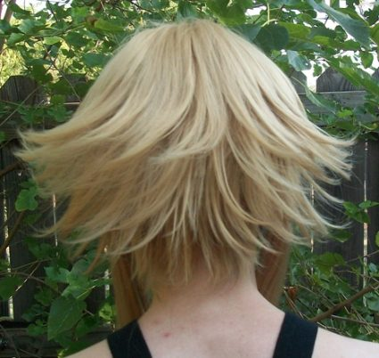 Medusa cosplay wig back view