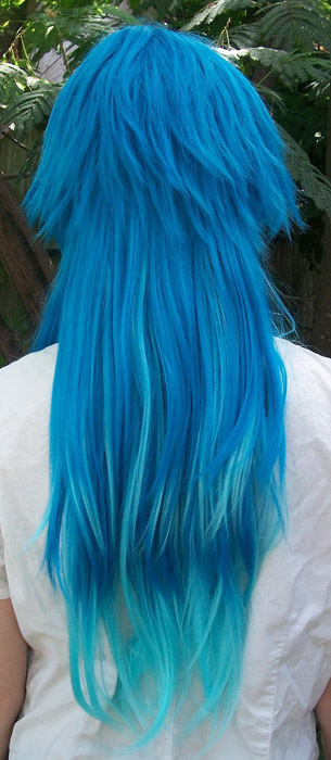Aoba cosplay wig back view