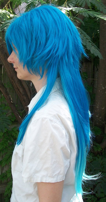 Aoba cosplay wig side view