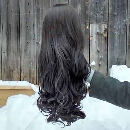 Asami cosplay wig back view
