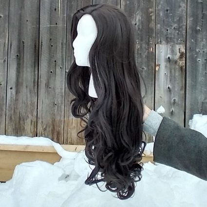 Asami cosplay wig side view