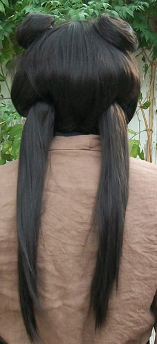 Mai cosplay wig back view