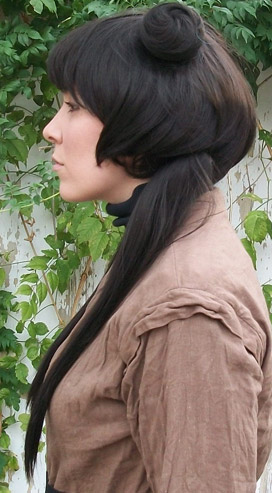 Mai cosplay wig side view