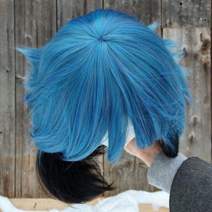 Michiru cosplay wig top view