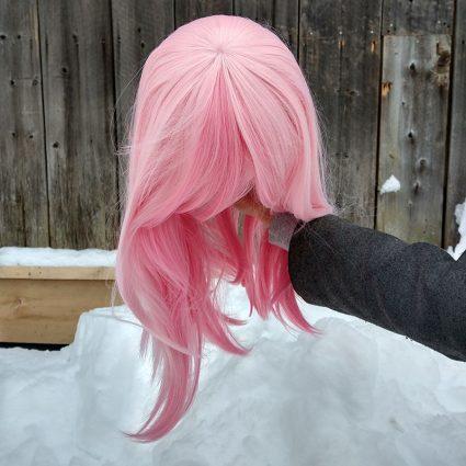 Nazuna cosplay wig top view