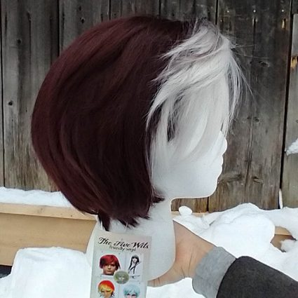 Emet-Selch cosplay wig right side view