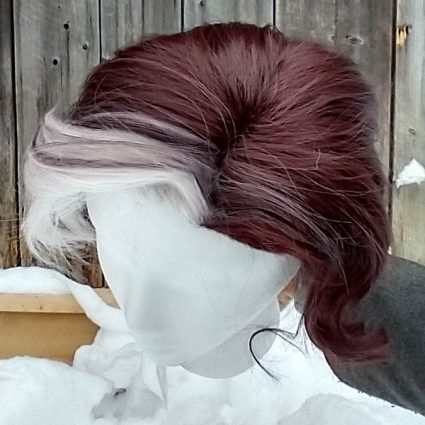Emet-Selch cosplay wig top view
