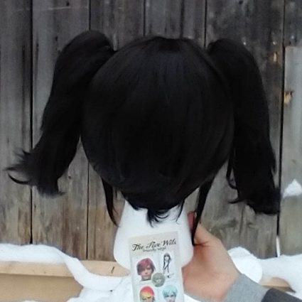 Coal Sprite cosplay wig back view