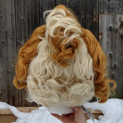 Isabelle cosplay wig back view