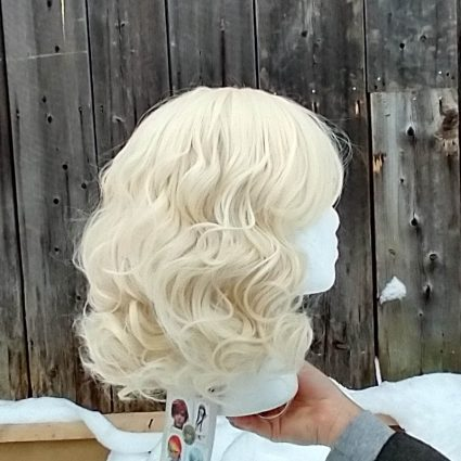 Isabelle cosplay wig base only side view
