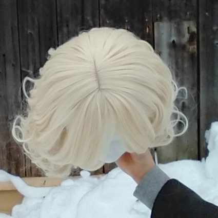 Isabelle cosplay wig base only top view