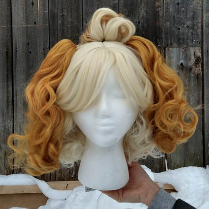 Isabelle cosplay wig front view