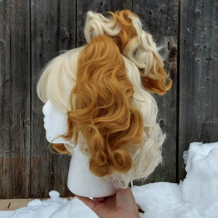 Isabelle cosplay wig side view