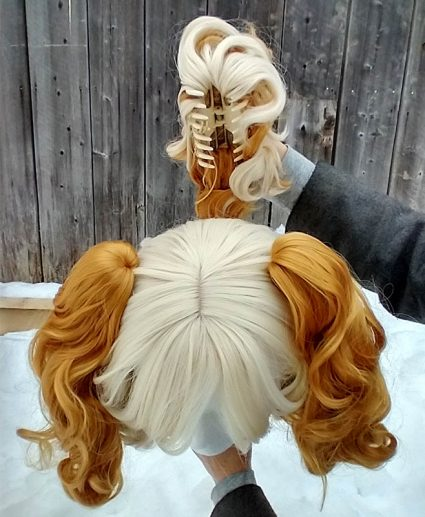 Isabelle cosplay wig top view