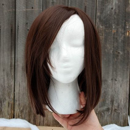 Korra cosplay wig front view