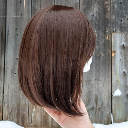 Korra cosplay wig side view