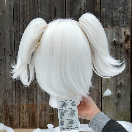 Snow White cosplay wig back view