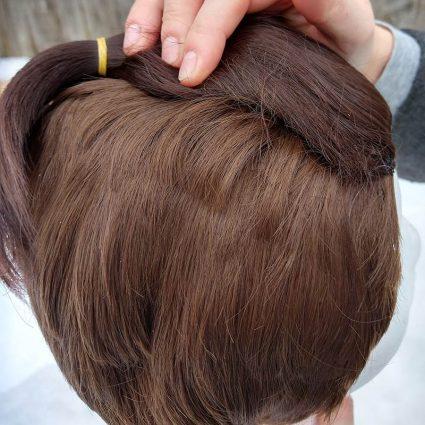 Sokka cosplay wig side view