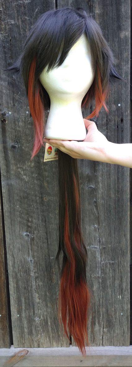 Zhongli cosplay wig front view