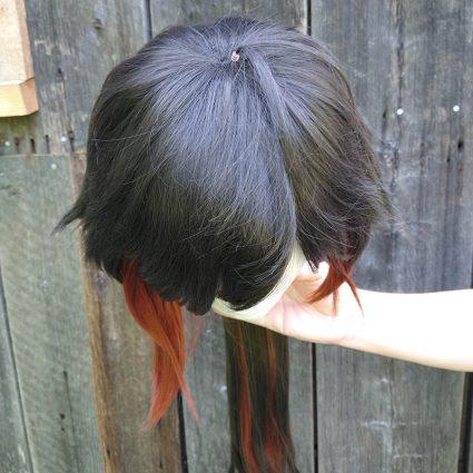 Zhongli cosplay wig top view